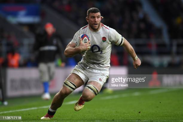 Mark Wilson of England in action during the Guinness Six Nations match between England and Franceat Twickenham Stadium on February 10 2019 in London...