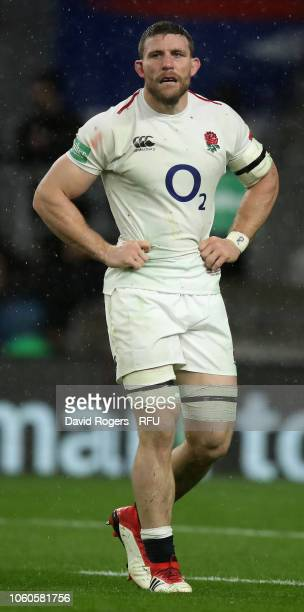 Mark Wilson of England looks on during the Quilter International match between England and New Zealand at Twickenham Stadium on November 10 2018 in...