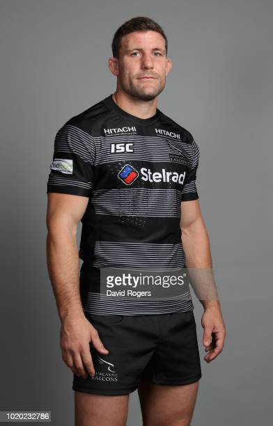 Mark Wilson of Newcastle Falcons poses for a portrait during the Newcastle Falcons squad photo call for the 201819 Gallagher Premiership Rugby season...