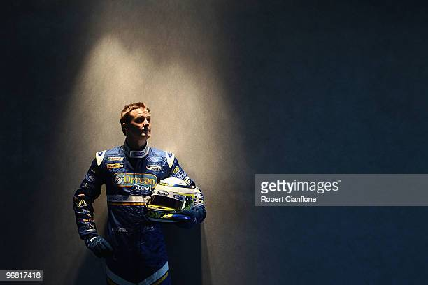 Mark Winterbottom driver of the Ford Performance Racing Ford poses for a portrait prior to practice for round one of the V8 Supercar Championship...