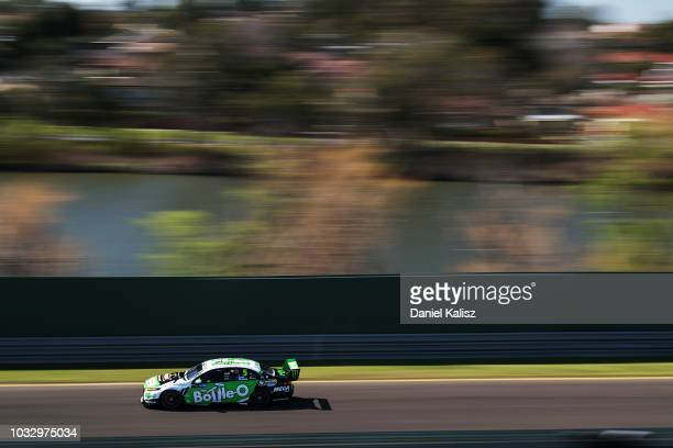 Mark Winterbottom drives the The BottleO Racing Ford Falcon FGX during practice for the Supercars Sandown 500 at Sandown International Motor Raceway...