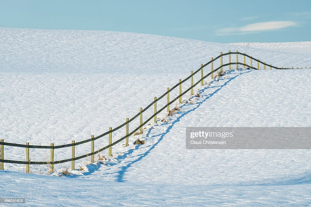 Mark with snow : Stock Photo