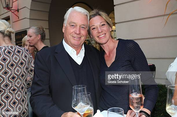 Mark Woessner and his girlfriend Christiane Link during the Mercedes-Benz reception at 'Klassik am Odeonsplatz' 2016 on July 17, 2016 in Munich,...