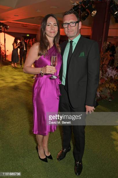 Mark Wogan and guest attend the Midsummer Party for The Old Vic at The Brewery on June 23 2019 in London England