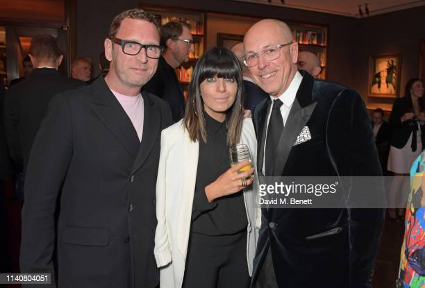 Mark Wogan Claudia Winkleman and Editor of GQ Dylan Jones attend a private dinner to celebrate Dylan Jones' 20th anniversary as EditorInChief of...