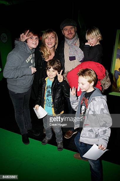 Mark Womack and Samantha Janus attend the UK premiere of Ben 10 Alien Force held at Old Billingsgate Market on February 15 2009 in London England