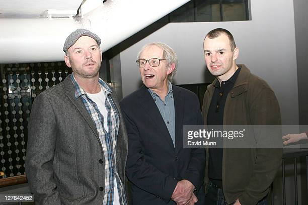 Mark Womack Ken Loach and Craig Lundberg attend the premiere of 'Route Irish' at FACT on March 7 2011 in Liverpool England