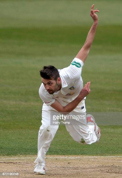 Mark Wood of Durham bowls during the Specsavers County Championship Division Two match between Gloucestershire and Durham at The Brightside Ground on...