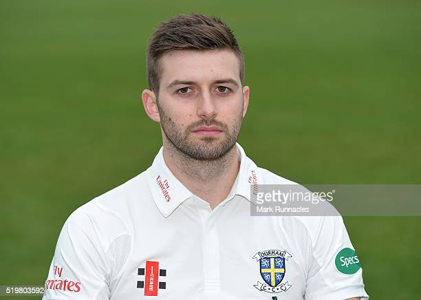 Mark Wood of Durham poses for a photograph during the Durham County Cricket Club photocall at the Riverside on April 8 2016 in ChesterLeStreet England