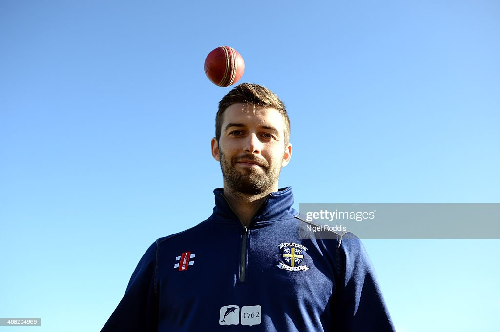Mark Wood of Durham poses for a portrait during the Durham CCC Photocall at The Riverside on March 31, 2015 in Chester-le-Street, England.
