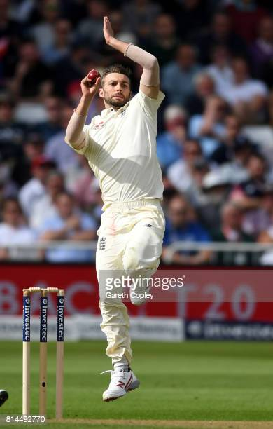 Mark Wood of England bowls during day one of the 2nd Investec Test match between England and South Africa at Trent Bridge on July 14 2017 in...