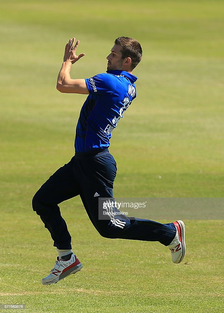 Mark Wood of England in action during the Triangular Series match between England Lions and Pakistan A on July 19, 2016 in Cheltenham, England.