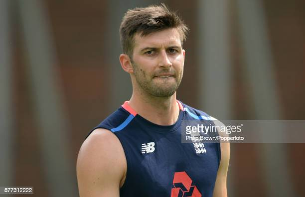 Mark Wood of England in the nets before the first Ashes cricket test match against Australia at the Gabba on November 22 2017 in Brisbane Australia