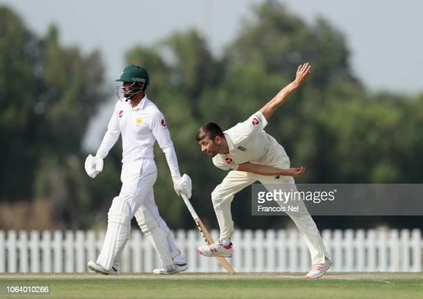 Mark Wood of England Lions bowls during day four of the tour match between England Lions and Pakistan A at Sheikh Zayed Stadium Nursery 1 on November...