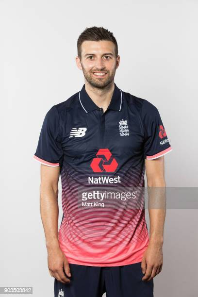 Mark Wood of England poses during the England One Day International series headshots session at Sydney Cricket Ground on January 10 2018 in Sydney...
