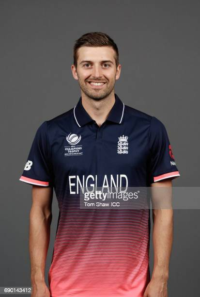 Mark Wood of England poses for a portrait during the England Portrait session for the ICC Champions Trophy at Grange City on May 30 2017 in London...