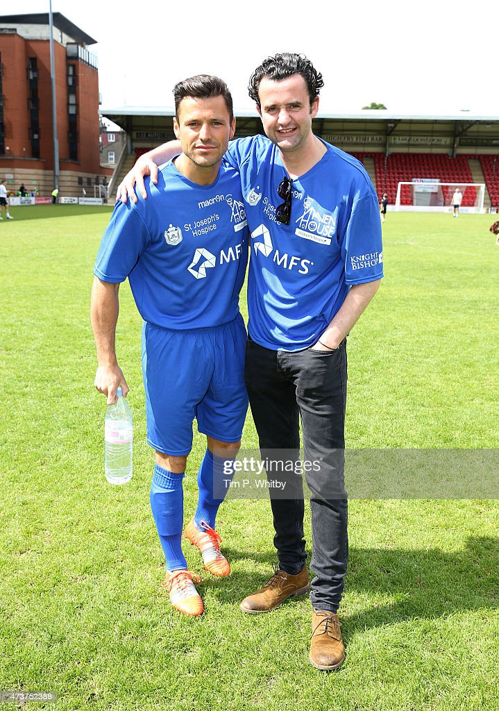 Celebrities Take On Tottenham Legends In A Charity Football Match : News Photo