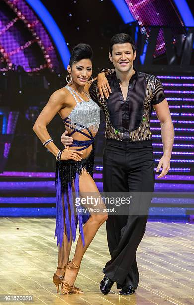 Mark Wright and Karen Hauer attends a photocall to launch the Strictly Come Dancing Live Tour 2015 at Birmingham Barclaycard Arena on January 15 2015...
