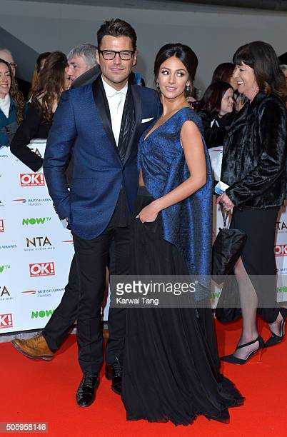 Mark Wright and Michelle Keegan attend the 21st National Television Awards at The O2 Arena on January 20 2016 in London England
