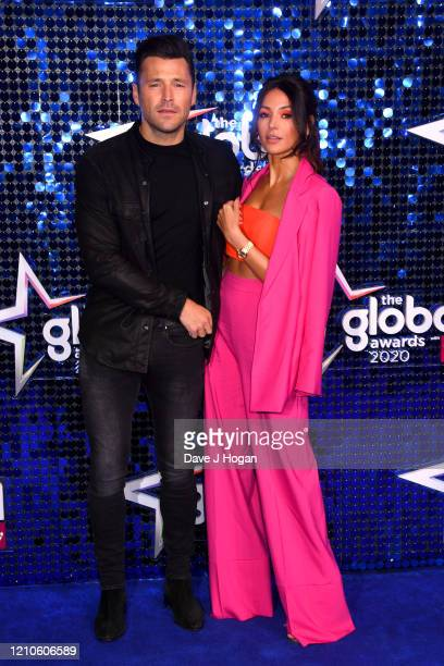 Mark Wright and Michelle Keegan attend The Global Awards 2020 at Eventim Apollo Hammersmith on March 05 2020 in London England