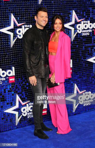 Mark Wright and Michelle Keegan attend The Global Awards 2020 at the Eventim Apollo Hammersmith on March 05 2020 in London England