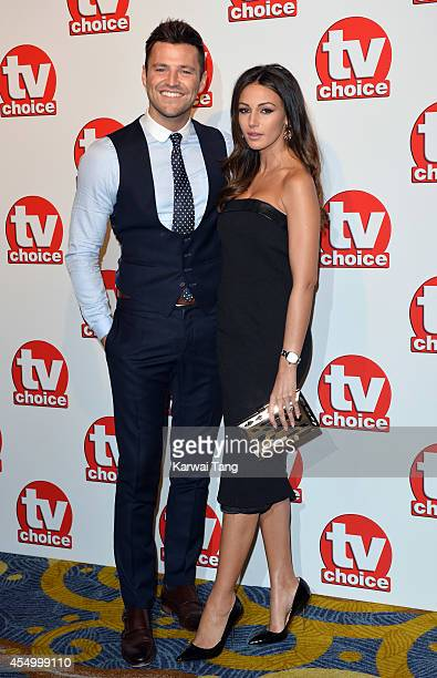 Mark Wright and Michelle Keegan attend the TV Choice Awards 2014 at London Hilton on September 8 2014 in London England