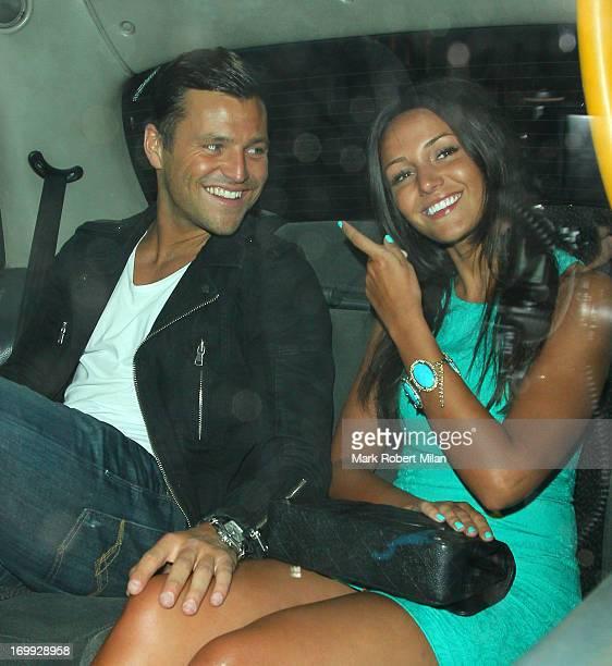 Mark Wright and Michelle Keegan leaving Nobu restaurant on June 4 2013 in London England