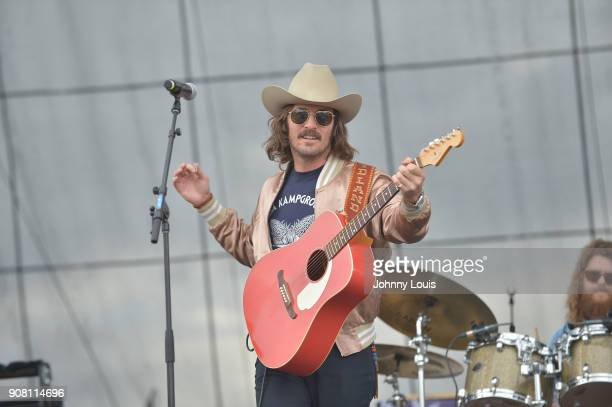 Mark Wystrach of Midland performs onstage at the 33rd Annual Kiss 999 Chili Cookoff at CB Smith Park on January 20 2018 in Pembroke Pines Florida