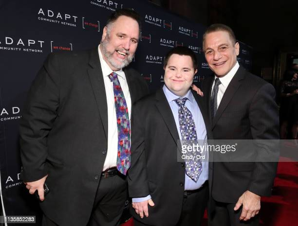 Mark X Cronin John Cronin and Tony Danza attend the The 2019 2nd Annual ADAPT Leadership Awards at Cipriani 42nd Street on March 14 2019 in New York...