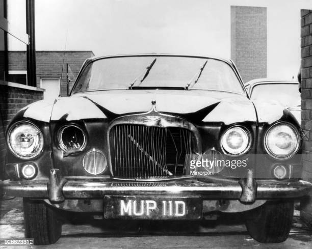 Mark X Jaguar saloon car owned by murder victim Angus Sibbett in which he was found lying across the back seat dead January 1967 Dennis Stafford and...