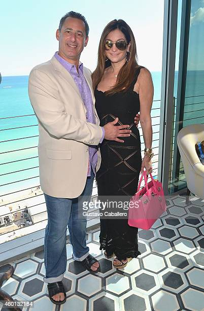 Mark Yadgaroff and Beth Shak attend The John Varvatos Art Basel Closing Brunch In Support Of Bass Museum Of Art at Soho Beach House on December 7...