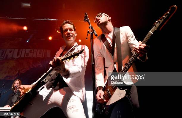 Mark Yates and Leigh Marklew of Terrorvision performs live on stage at O2 Academy Manchester on May 4 2018 in Manchester England