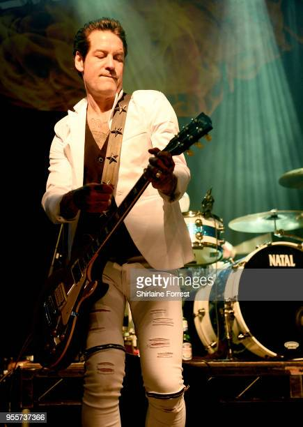 Mark Yates of Terrorvision performs live on stage at O2 Academy Manchester on May 4 2018 in Manchester England