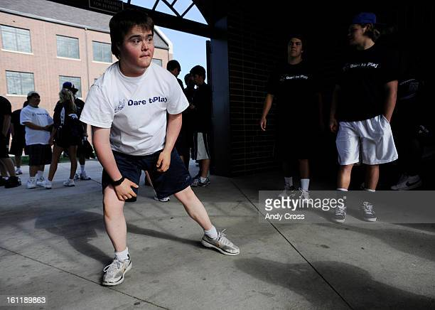 RANCH CO Mark Yoakum 19yearsold stretches on the concourse of the Valor Christian High School stadium in Highlands Ranch Friday morning Yoakum who...