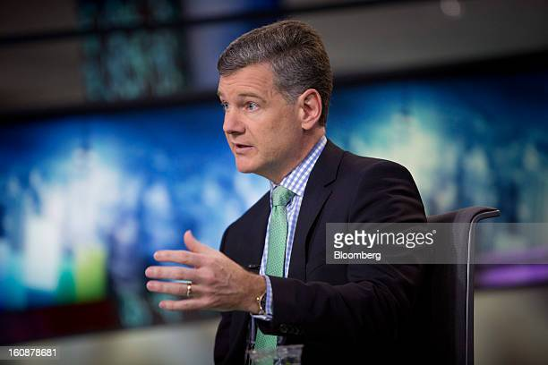 Mark Yusko chief executive officer and cofounder of Morgan Creek Capital Management LLC speaks during a Bloomberg Television interview in New York US...