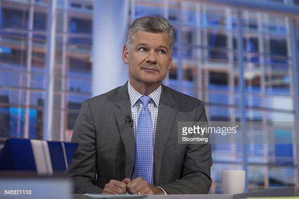 Mark Yusko chief executive officer of Morgan Creek Capital Management LLC listens during a Bloomberg Television interview in New York US on Thursday...