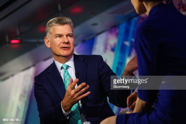 Mark Yusko chief executive officer of Morgan Creek Capital Management LLC speaks during a Bloomberg Television interview in New York US on Thursday...