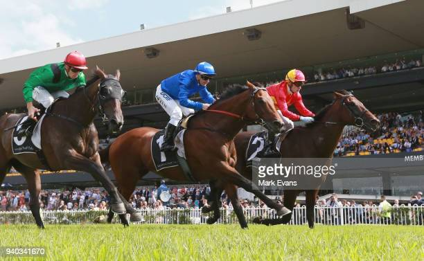 Mark Zahra on Levendi wins race 5 The Tulloch Stakes during Sydney Racing at Rosehill Gardens on March 31 2018 in Sydney Australia