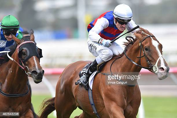 Mark Zahra riding Choose wins Race 4 during Melbourne Racing at Flemington Racecourse on January 31 2015 in Melbourne Australia