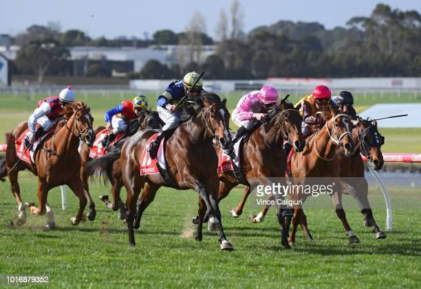 Mark Zahra riding Declarationofheart winning Race 6 during Melbourne Racing at Sandown Hillside on August 15 2018 in Melbourne Australia