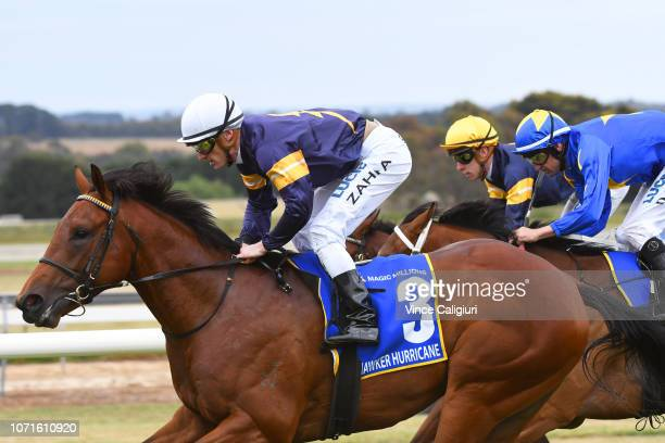 Mark Zahra riding Hawker Hurricane winning Race 4 Magic Millions 2YO Clockwise Classic during Melbourne Racing at Ballarat Racecourse on November 24...