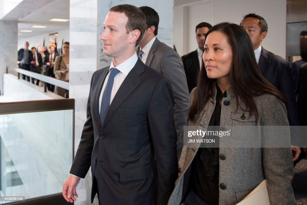 Facebook CEO Mark Zuckerberg Meets With Members Of Congress On Capitol Hill