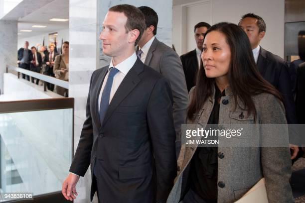 Mark Zuckerberg and Andrea Besmehn Mark Zuckerbergs executive assistant at Facebook depart US Senator Bill Nelson's DFlorida office on Capitol Hill...