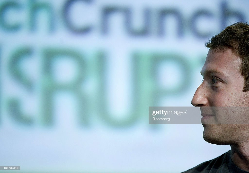 Mark Zuckerberg, chief executive officer and founder of Facebook Inc., listens during TechCrunch Disrupt SF 2012 in San Francisco, California, U.S., on Tuesday, Sept. 11, 2012. Zuckerberg, addressing the company's stock slump for the first time since a May initial public offering, said growth in the coming years will hinge on its ability to succeed with mobile products. Photographer: David Paul Morris/Bloomberg via Getty Images