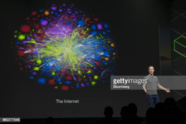 Mark Zuckerberg chief executive officer and founder of Facebook Inc speaks during the Oculus Connect 4 product launch event in San Jose California US...