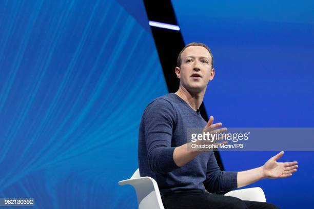 Mark Zuckerberg, chief executive officer and founder of Facebook Inc. Attends the Viva Tech start-up and technology gathering at Parc des Expositions...