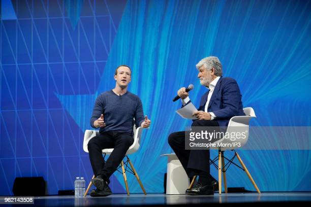 Mark Zuckerberg chief executive officer and founder of Facebook Inc attends the Viva Tech startup and technology gathering at Parc des Expositions...