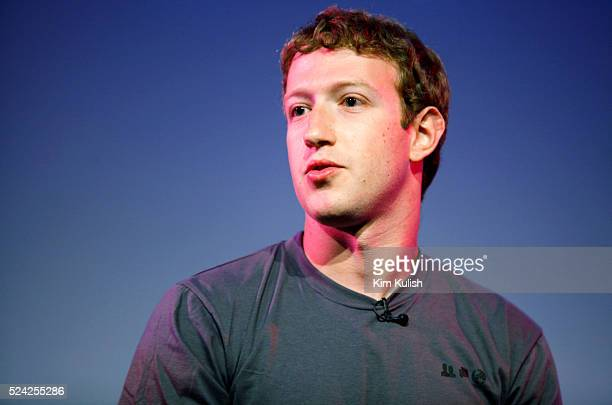 Mark Zuckerberg, Facebook CEO appears at the Computer History Museum in Mountain View Calif. For a 2 hour talk with The Facebook Effect, Author David...