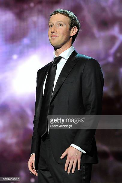 Mark Zuckerberg is a presenter at the 2014 Breakthrough Prizes Awarded in Fundamental Physics and Life Sciences Ceremony at NASA Ames Research Center...
