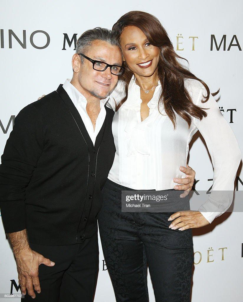 Mark Zunino and Beverly Johnson arrive at Mark Zunino Atelier held on January 7, 2016 in Beverly Hills, California.